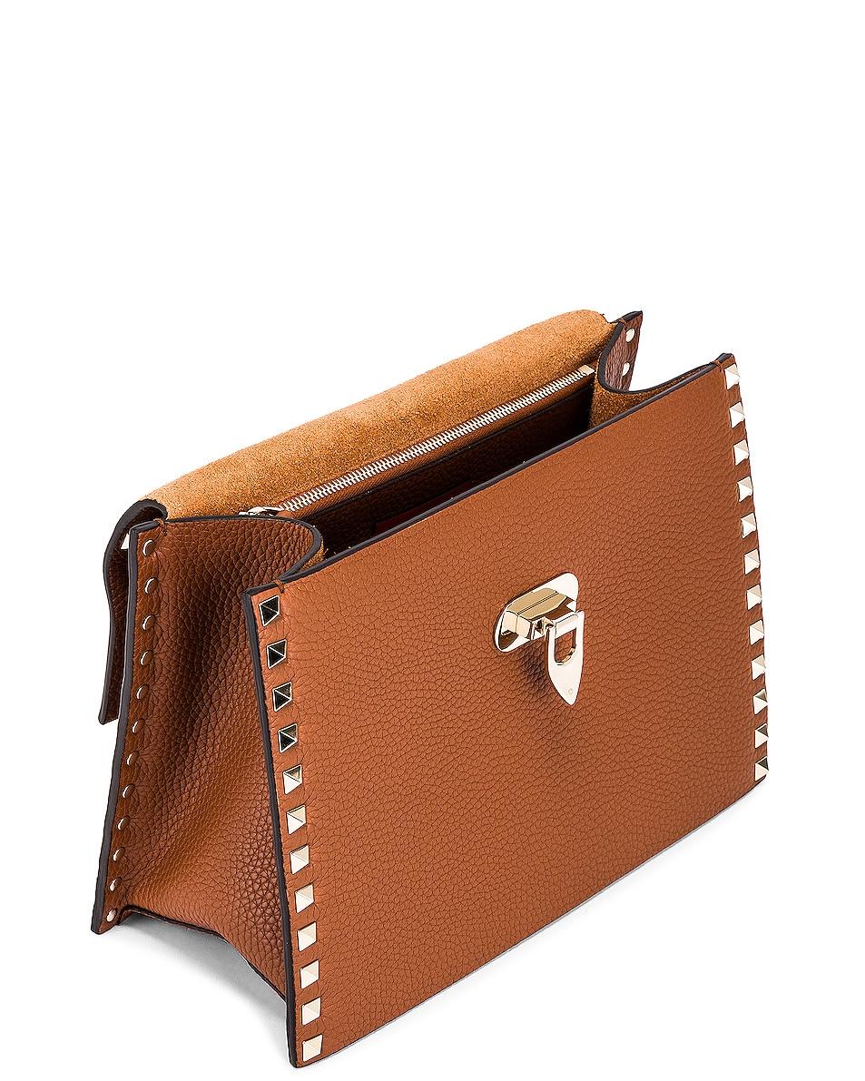 Image 5 of Valentino Rockstud Top Handle Bag in Selleria