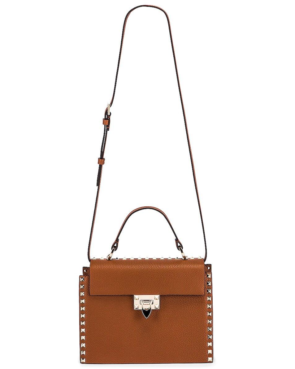 Image 6 of Valentino Rockstud Top Handle Bag in Selleria