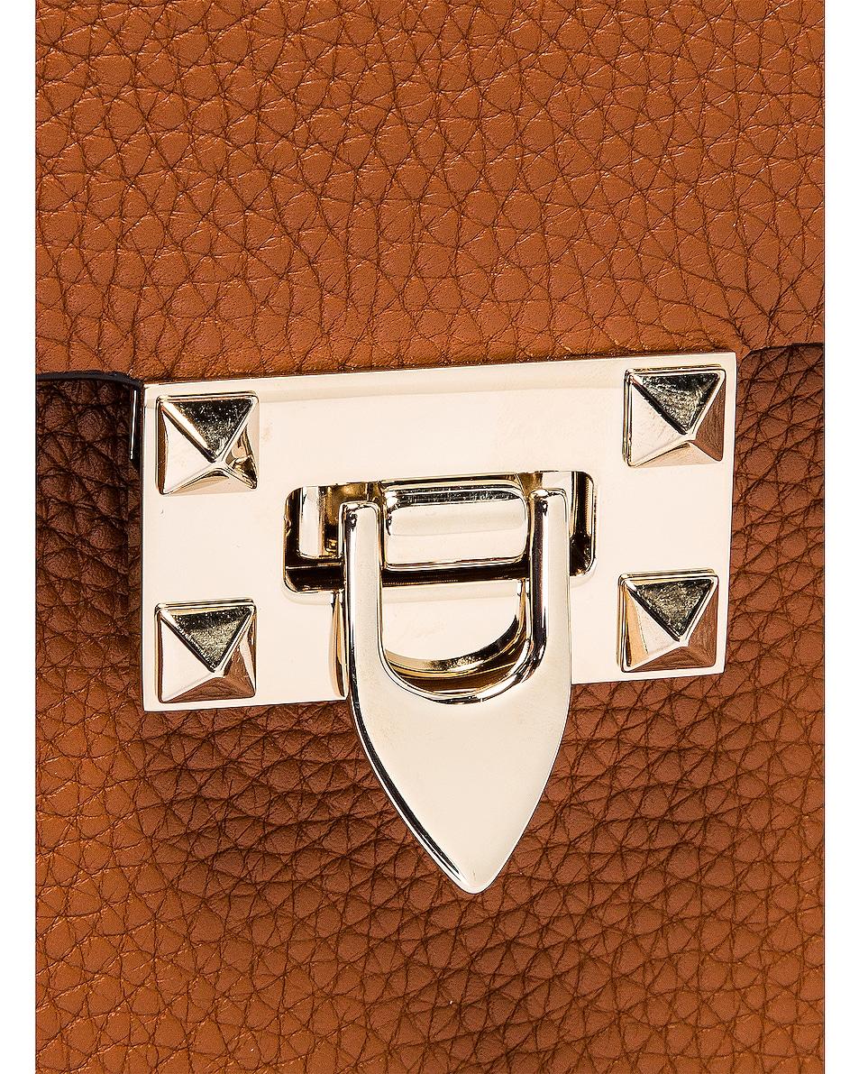 Image 8 of Valentino Rockstud Top Handle Bag in Selleria