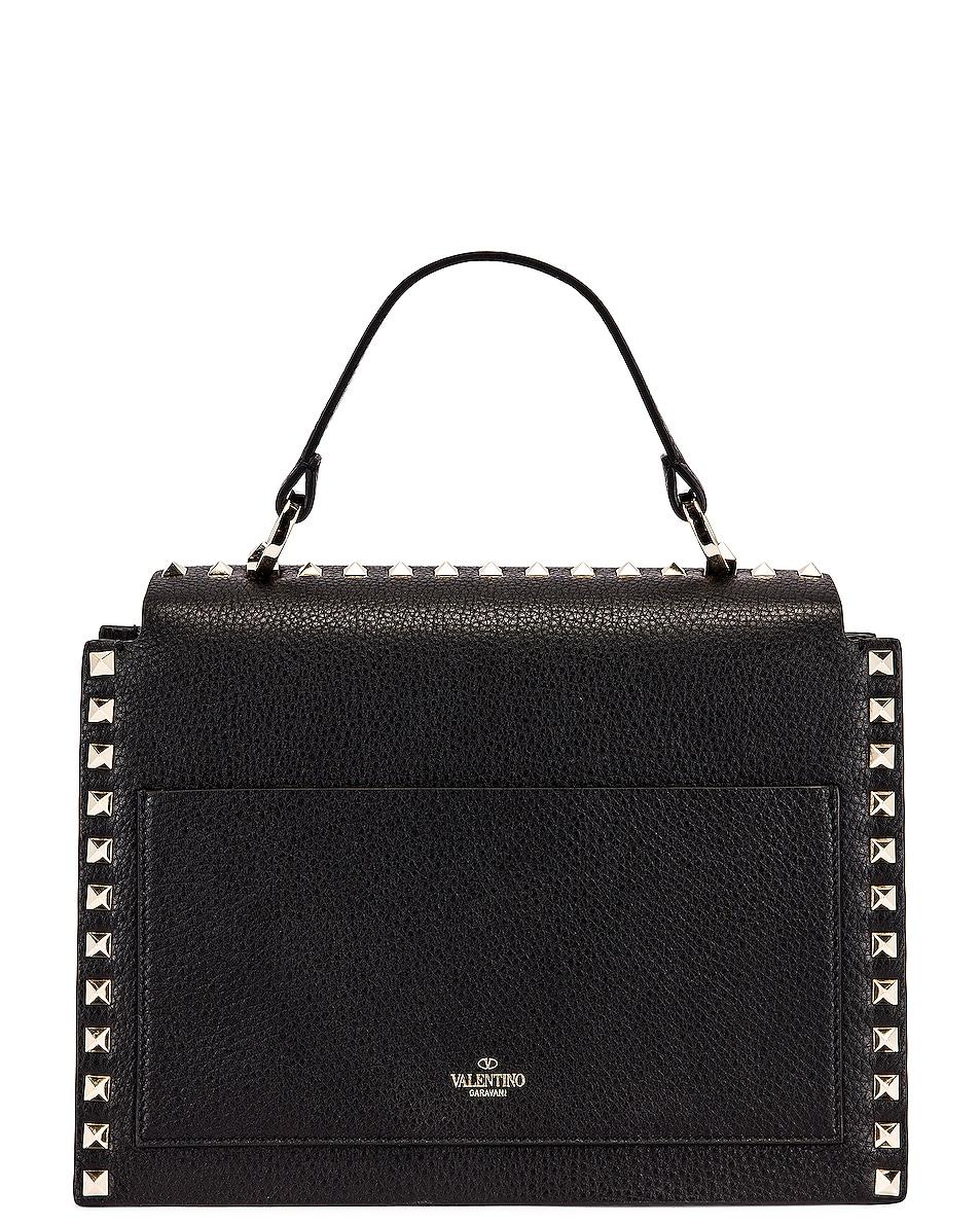 Image 3 of Valentino Rockstud Top Handle Bag in Nero