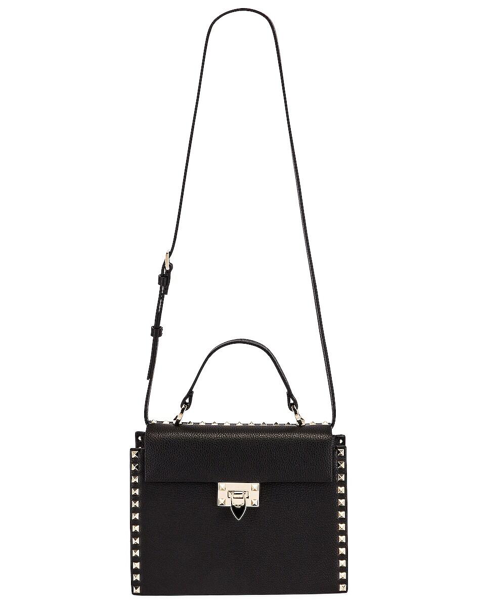 Image 6 of Valentino Rockstud Top Handle Bag in Nero