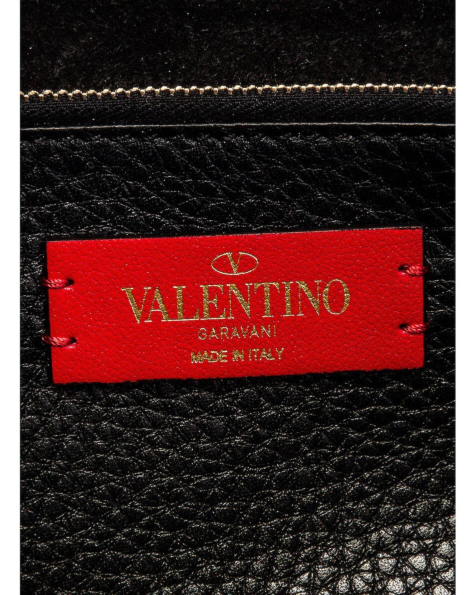 Image 7 of Valentino Rockstud Top Handle Bag in Nero