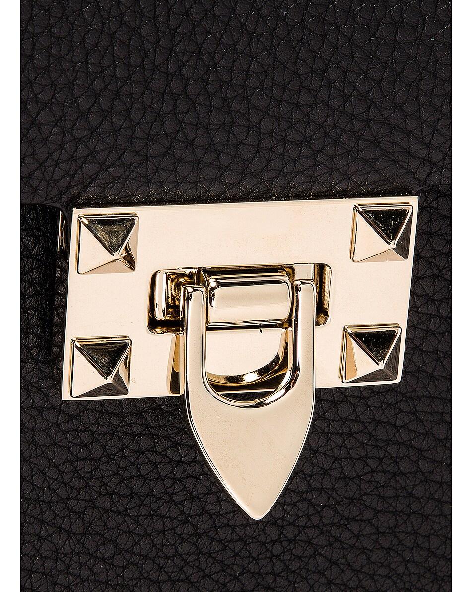 Image 8 of Valentino Rockstud Top Handle Bag in Nero