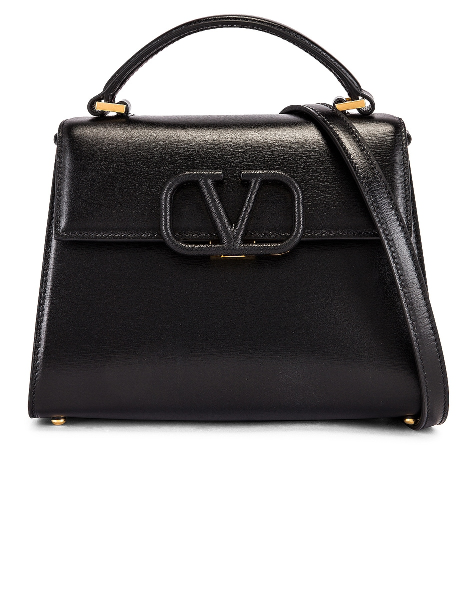 Image 1 of Valentino Small Vsling Top Handle Bag in Black