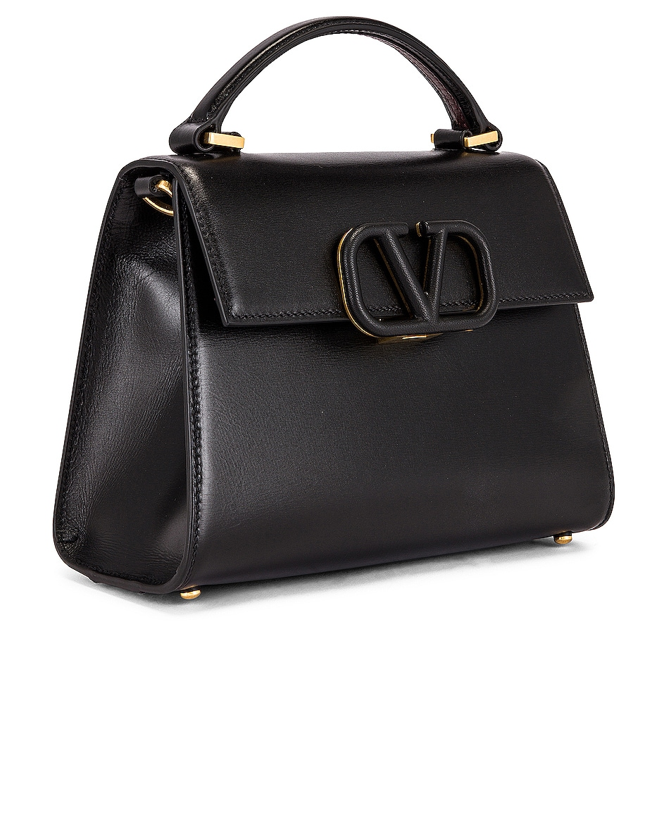Image 4 of Valentino Small Vsling Top Handle Bag in Black