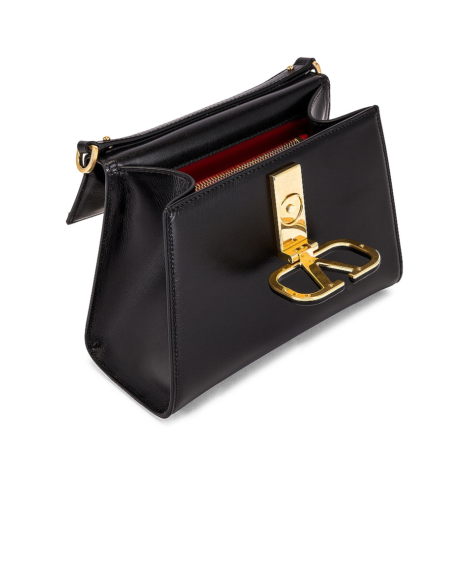 Image 5 of Valentino Small Vsling Top Handle Bag in Black