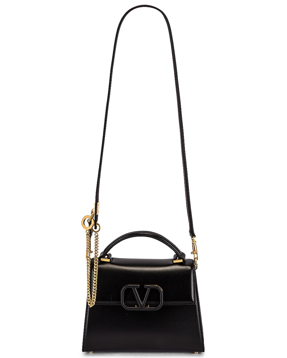 Image 6 of Valentino Small Vsling Top Handle Bag in Black