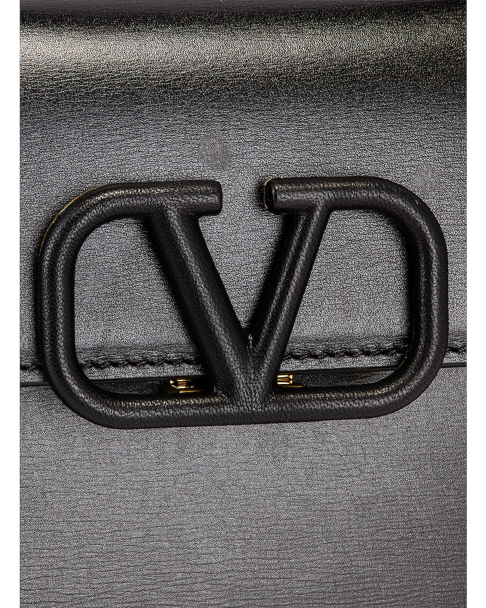 Image 8 of Valentino Small Vsling Top Handle Bag in Black
