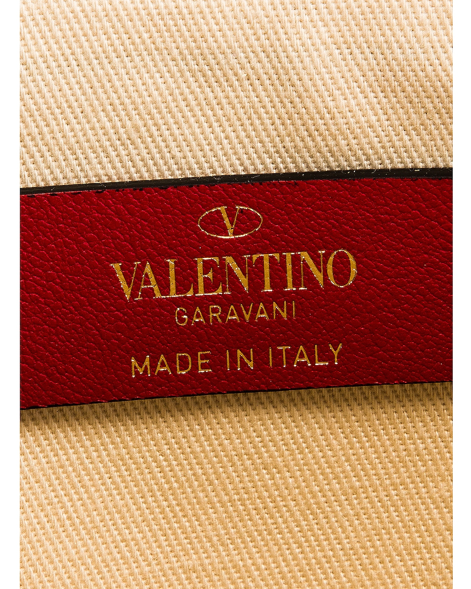 Image 6 of Valentino Large Rockstud Flat Pouch in Natural & Selleria