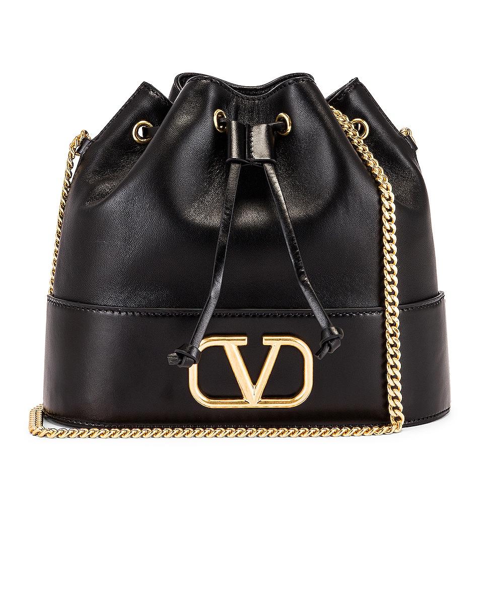 Image 1 of Valentino Vlogo Pouch Bag in Nero
