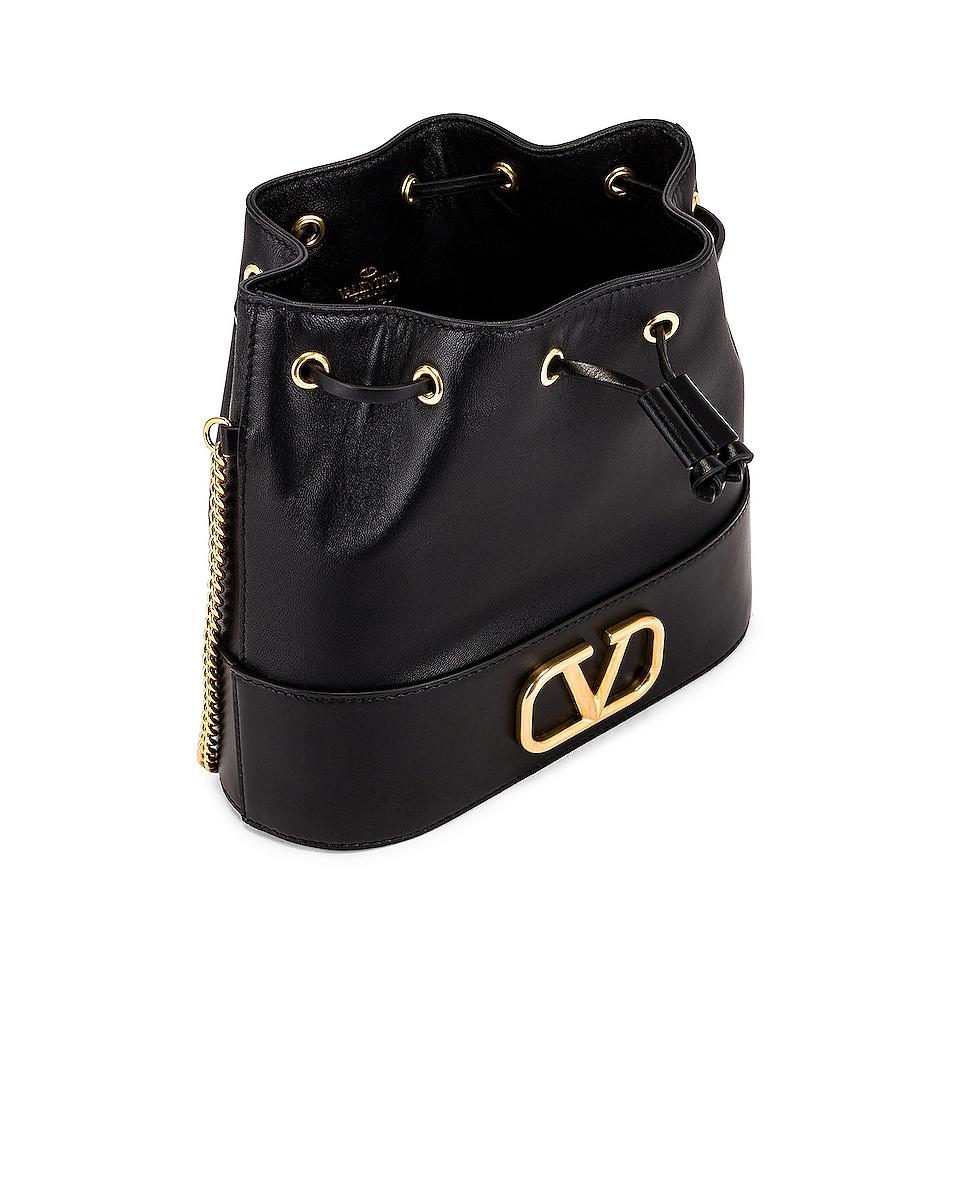 Image 5 of Valentino Vlogo Pouch Bag in Nero