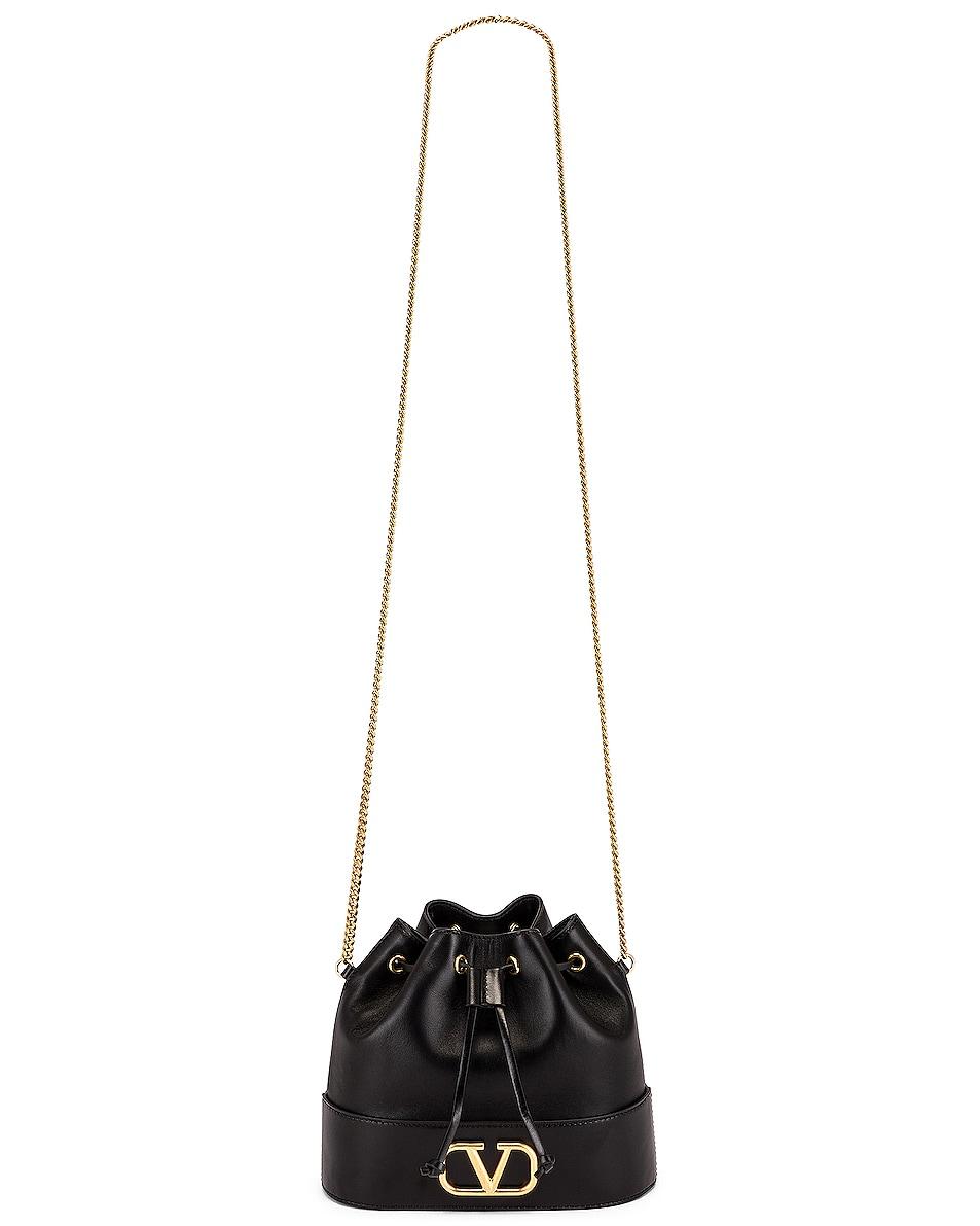 Image 6 of Valentino Vlogo Pouch Bag in Nero