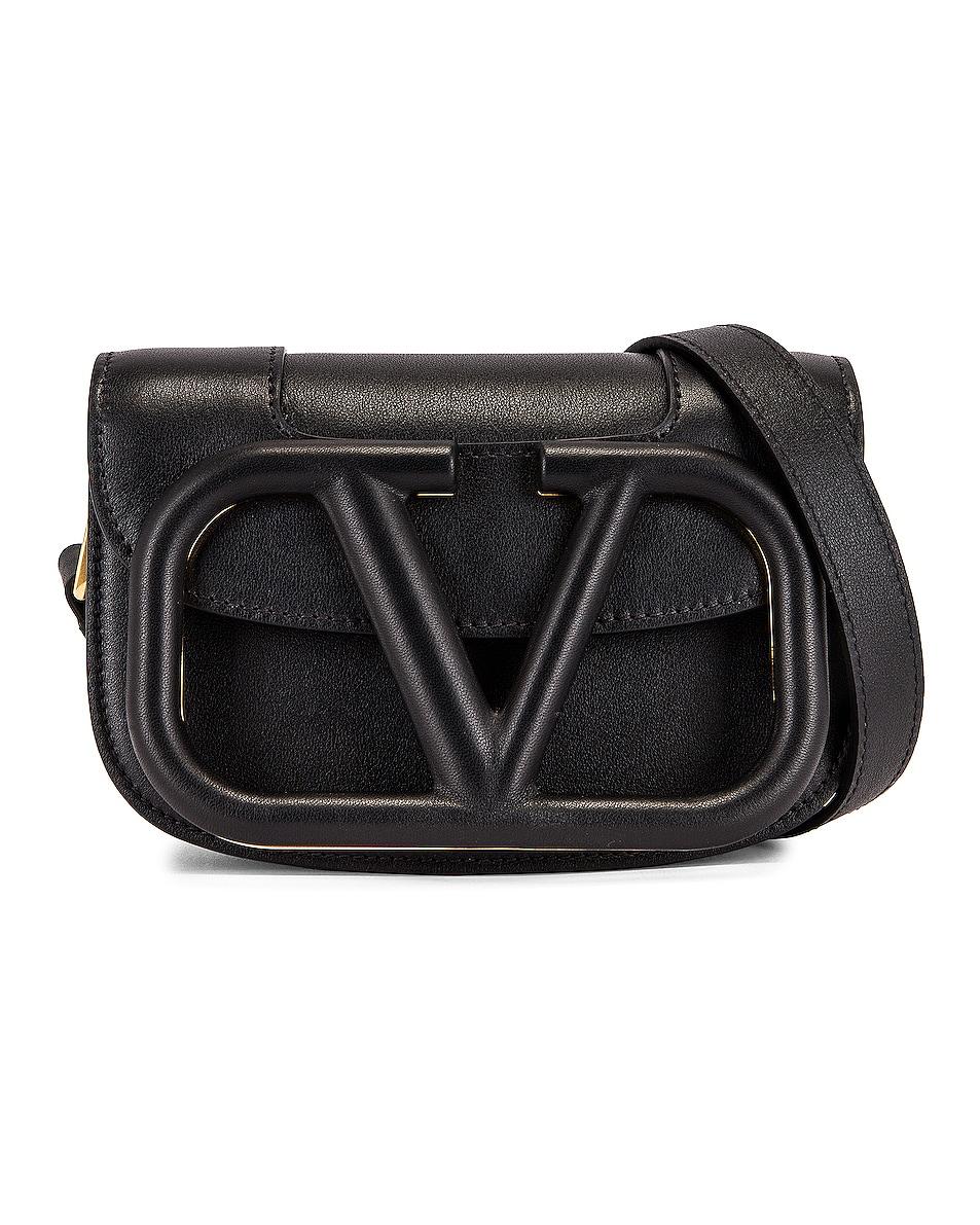 Image 1 of Valentino Small Supervee Shoulder Bag in Nero