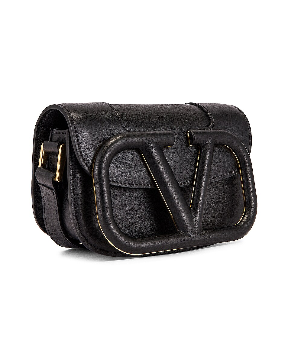 Image 4 of Valentino Small Supervee Shoulder Bag in Nero