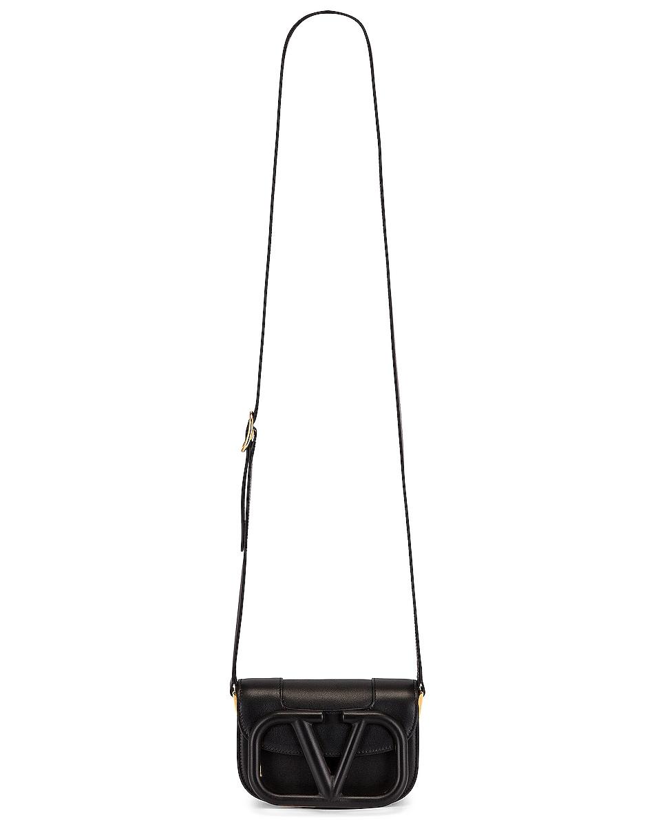 Image 6 of Valentino Small Supervee Shoulder Bag in Nero