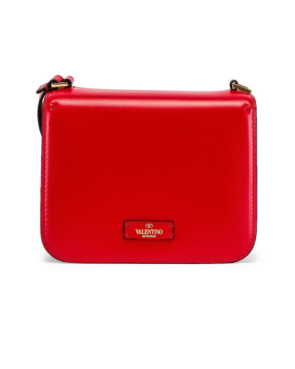 Image 3 of Valentino Small Vsling Shoulder Bag in Rouge Pur