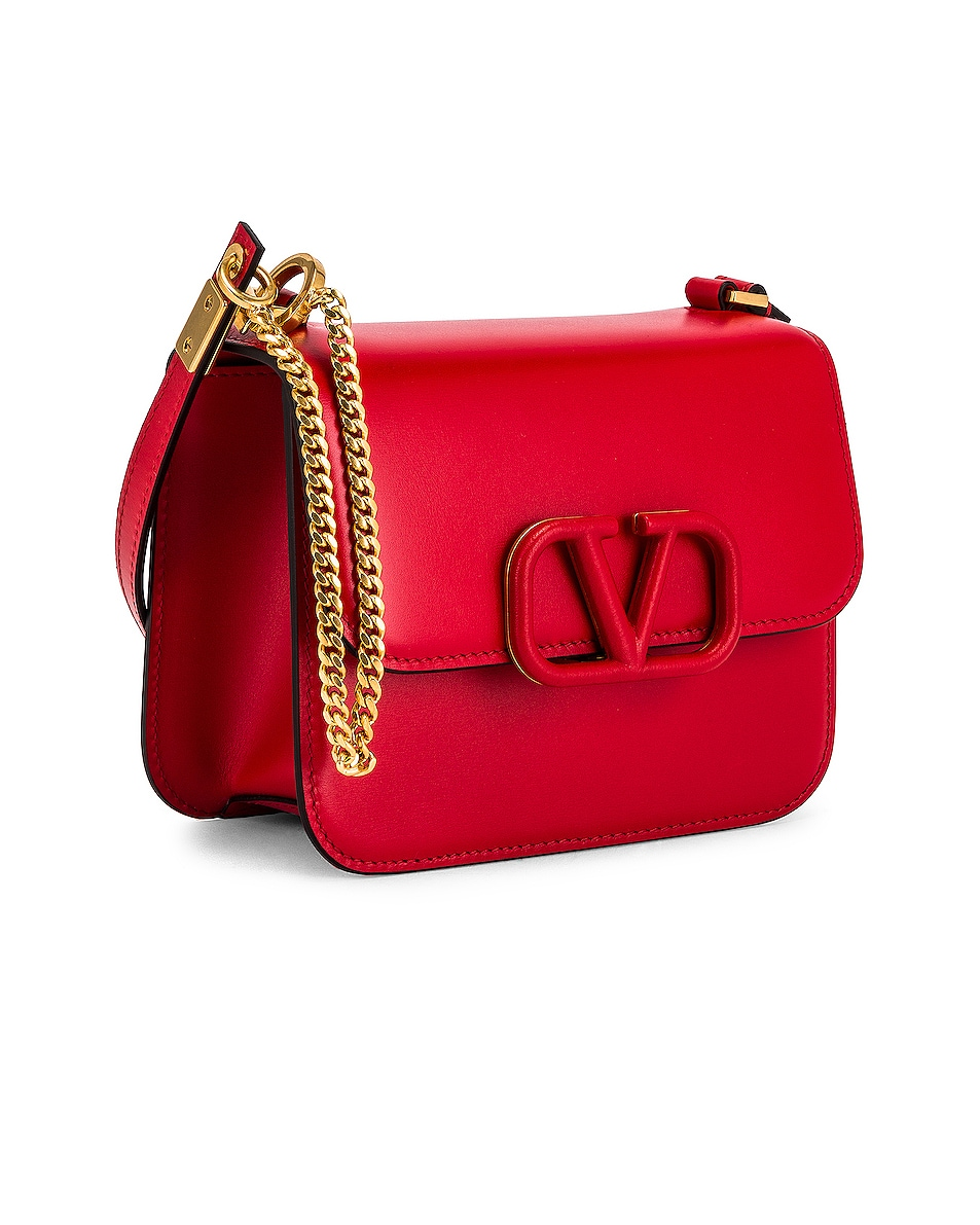 Image 4 of Valentino Small Vsling Shoulder Bag in Rouge Pur