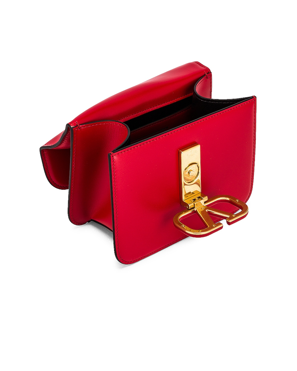 Image 5 of Valentino Small Vsling Shoulder Bag in Rouge Pur