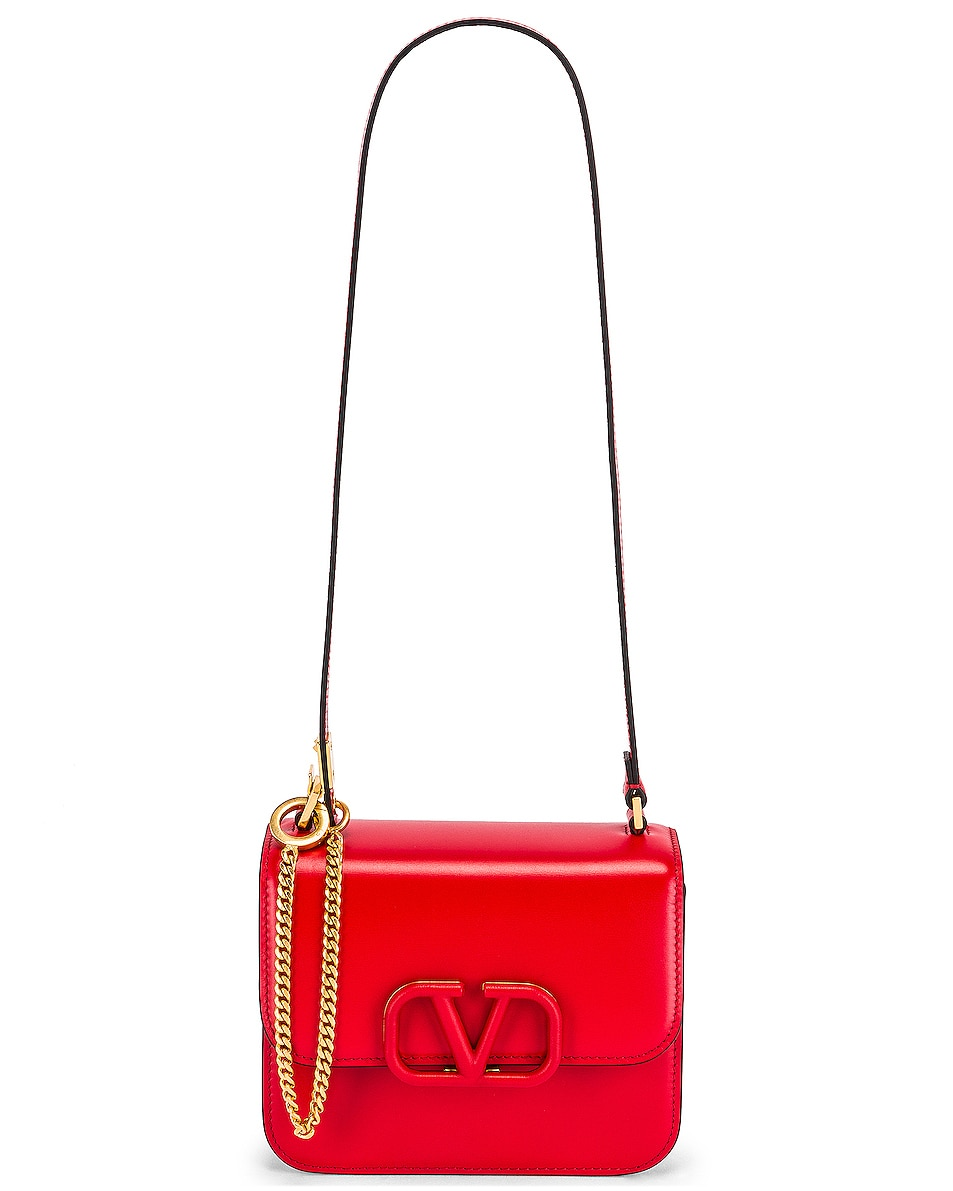 Image 6 of Valentino Small Vsling Shoulder Bag in Rouge Pur