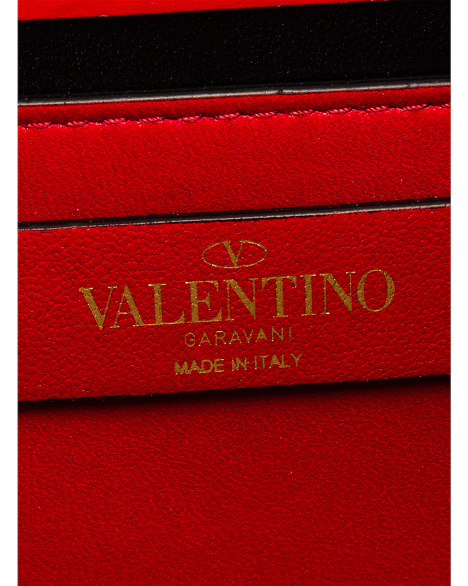 Image 7 of Valentino Small Vsling Shoulder Bag in Rouge Pur