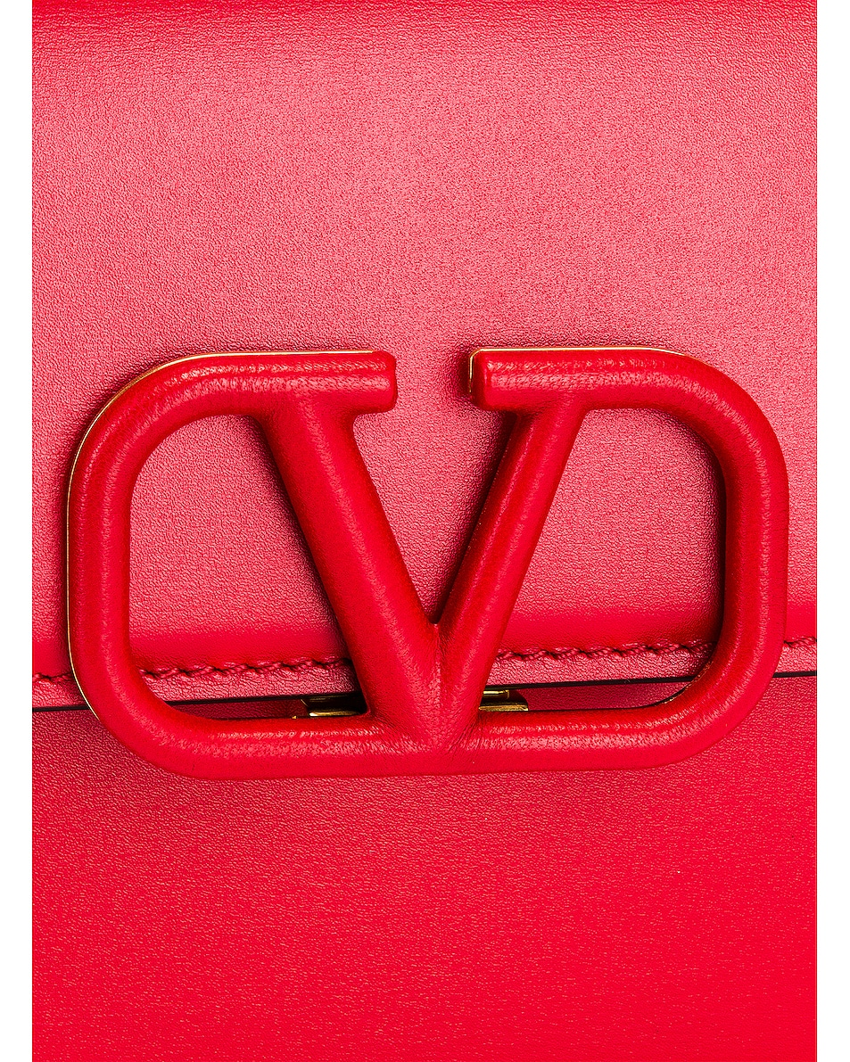 Image 8 of Valentino Small Vsling Shoulder Bag in Rouge Pur