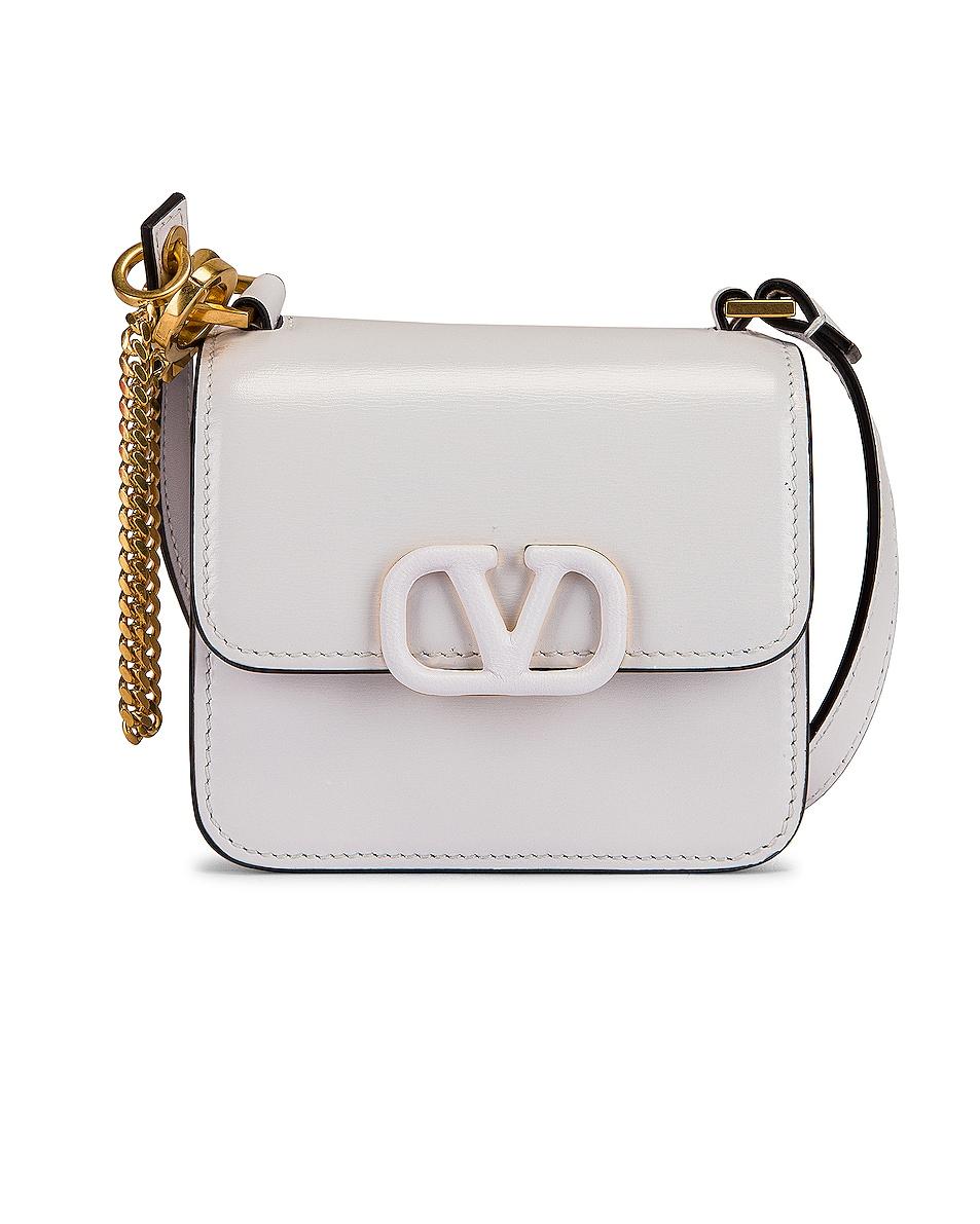 Image 1 of Valentino Micro Vsling Shoulder Bag in Bianco Ottico