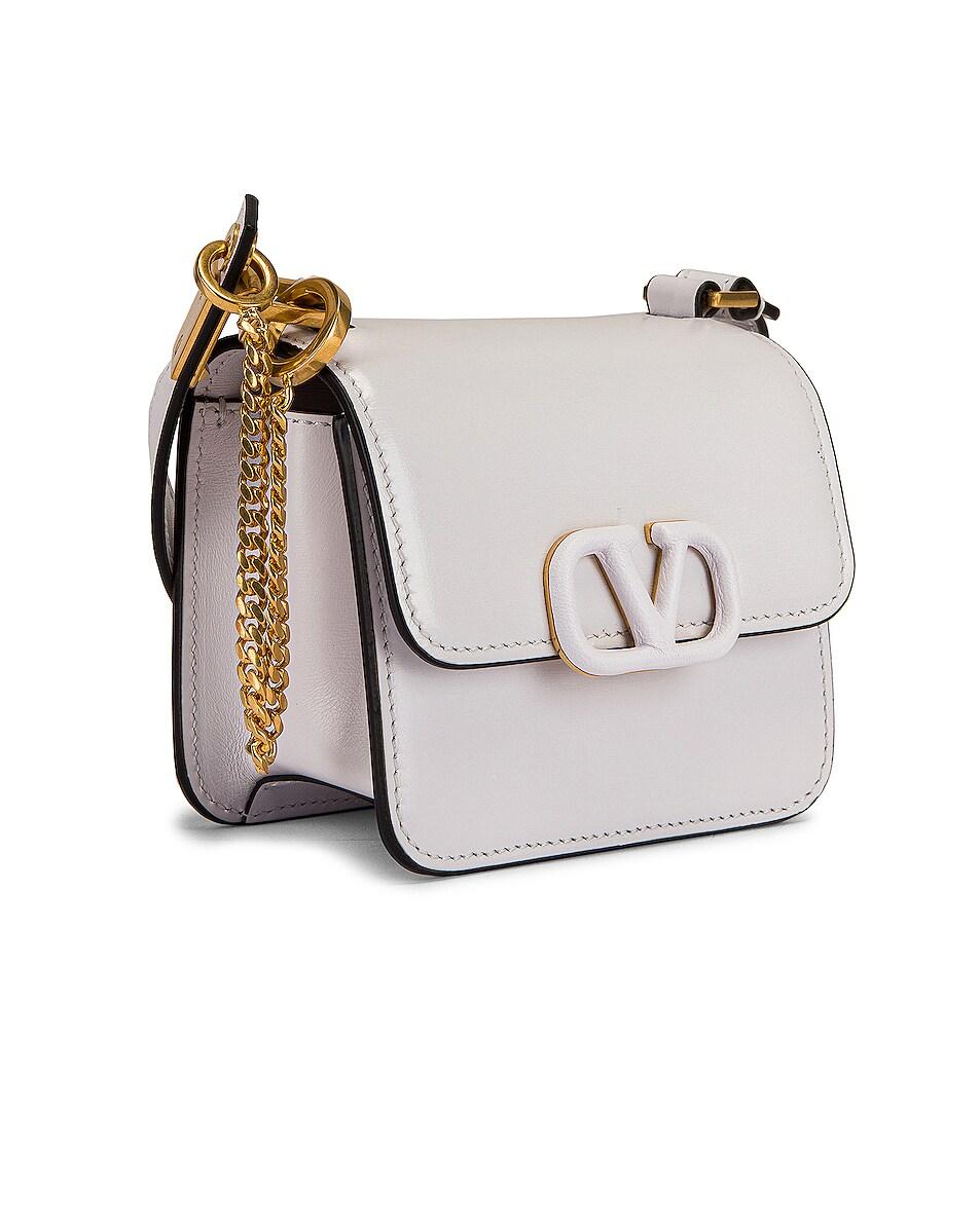 Image 4 of Valentino Micro Vsling Shoulder Bag in Bianco Ottico