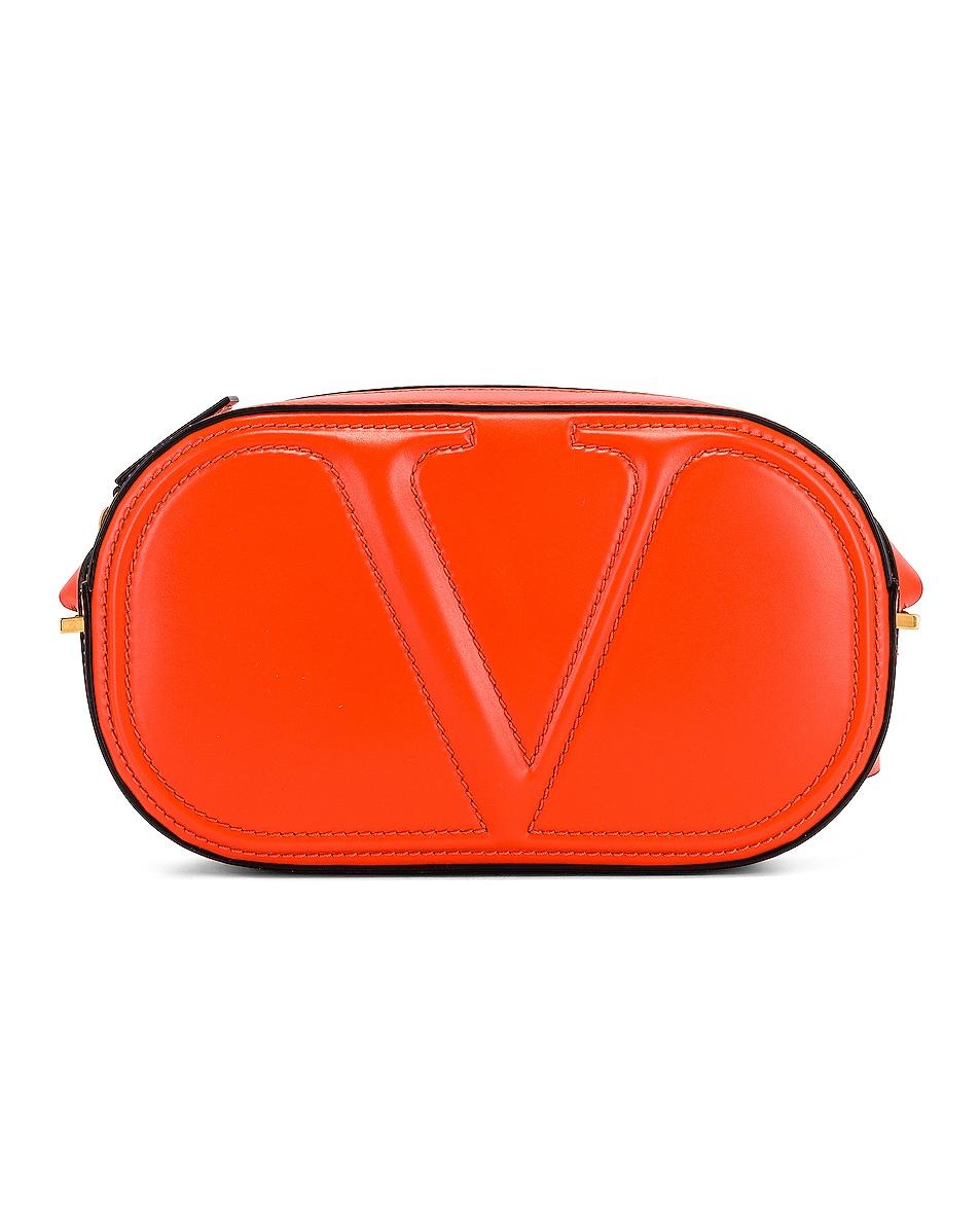 Image 1 of Valentino VLogo Walk Crossbody Bag in Goldfish