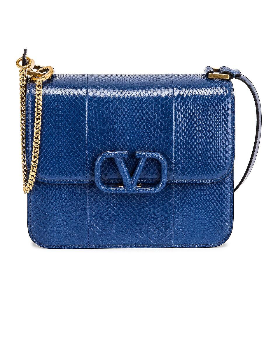 Image 1 of Valentino Garavani VSling Shoulder Bag in Blu Delft