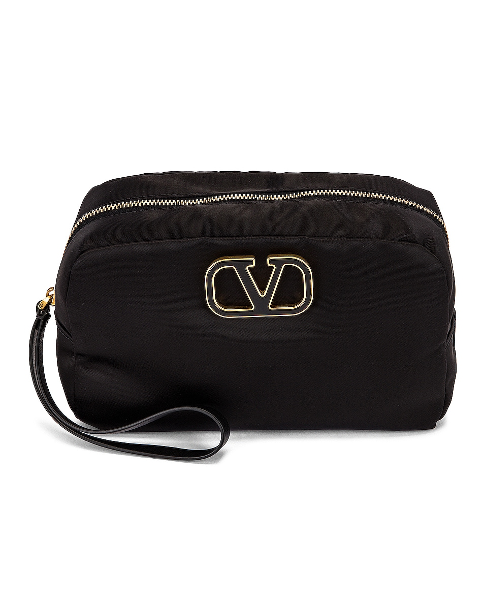 Image 1 of Valentino Large Cosmetic Case in Black