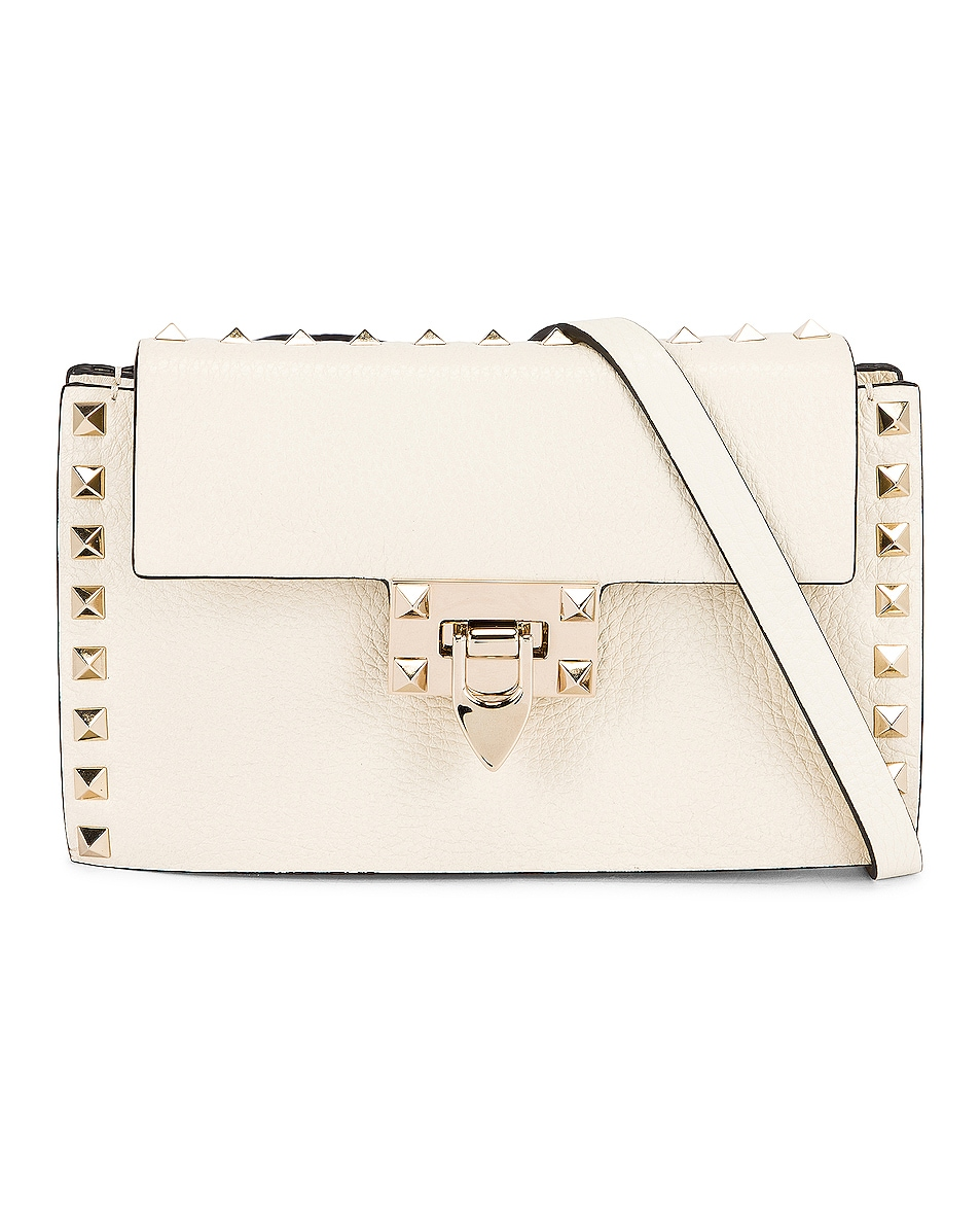 Image 1 of Valentino Small Cross Body Bag in Light Ivory