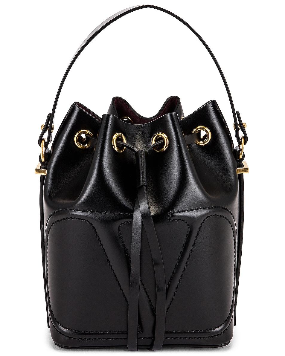 Image 1 of Valentino Garavani Bucket Bag in Nero