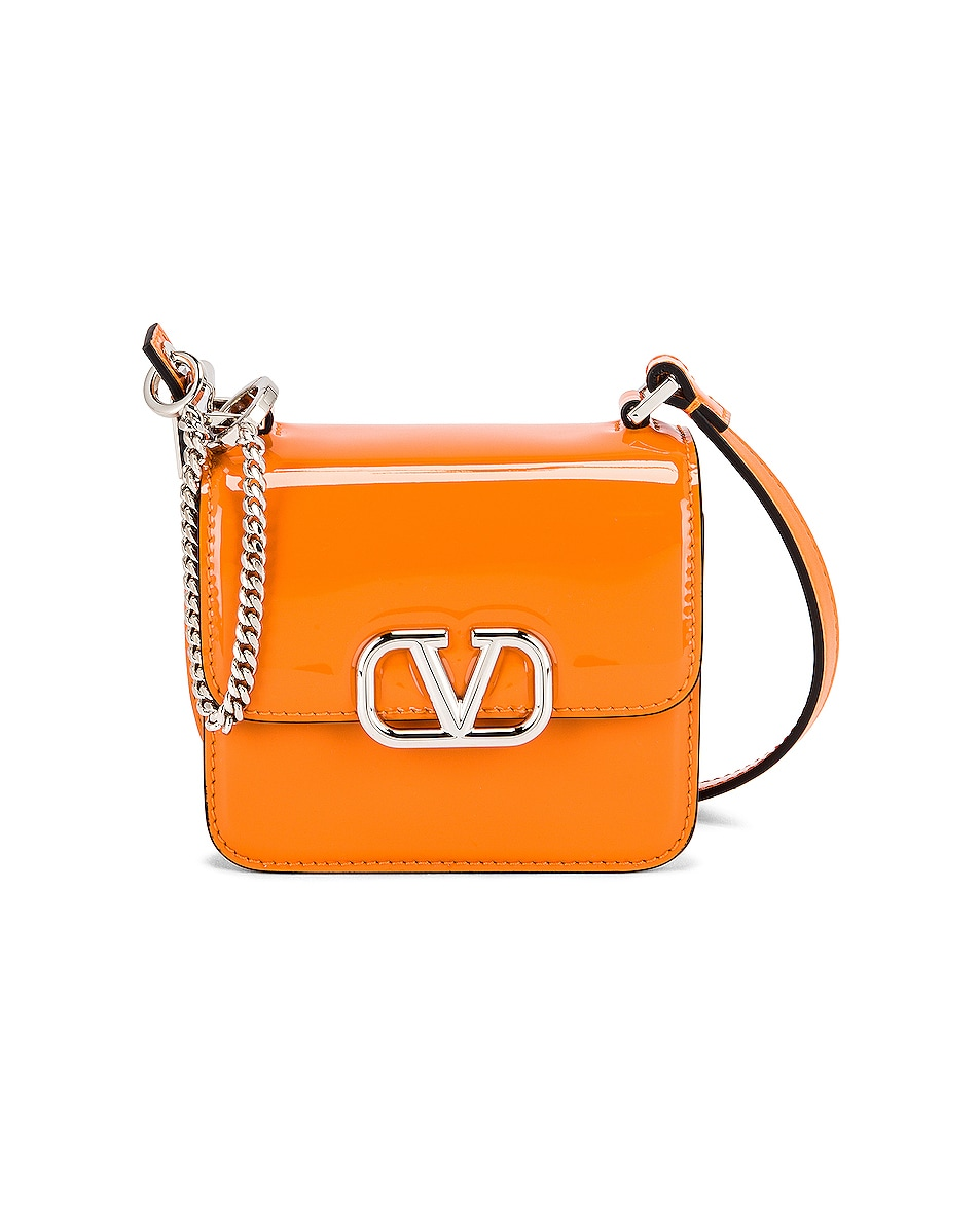 Image 1 of Valentino Garavani Micro VSling Shoulder Bag in Pale Apricot