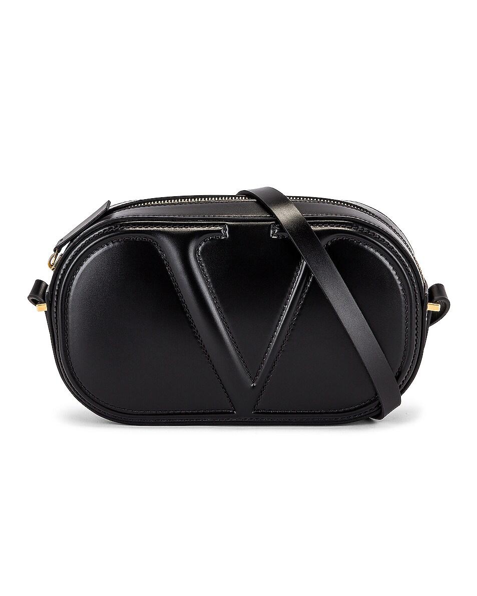 Image 1 of Valentino Garavani V Crossbody Bag in Black