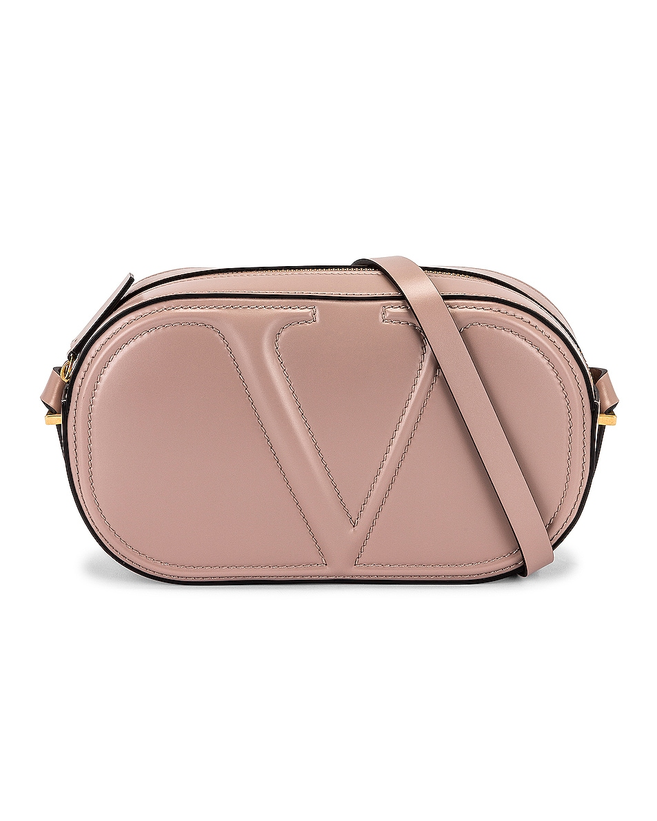 Image 1 of Valentino Garavani V Crossbody Bag in Poudre