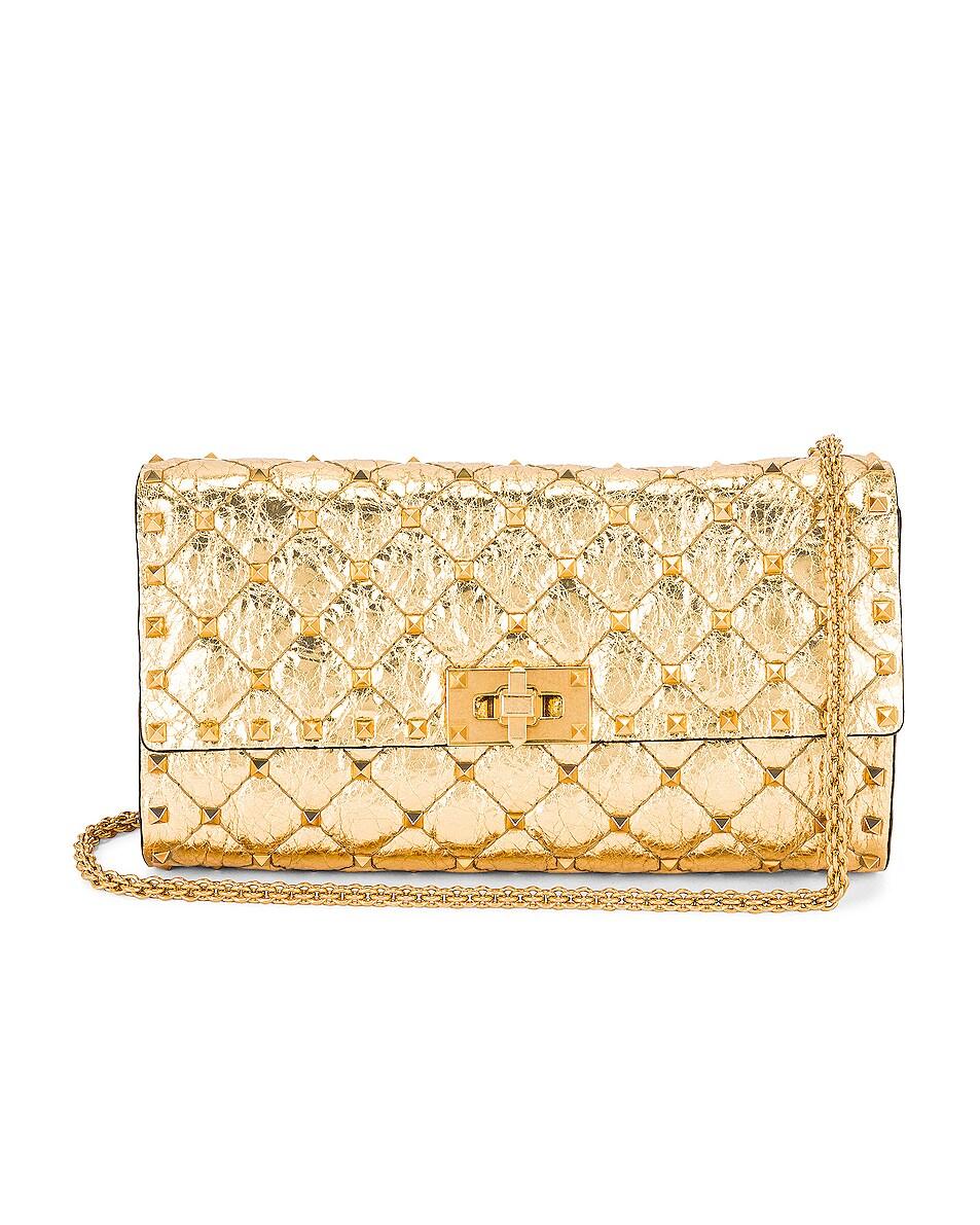 Image 1 of Valentino Garavani Small Rockstud Shoulder Bag in Antique Brass