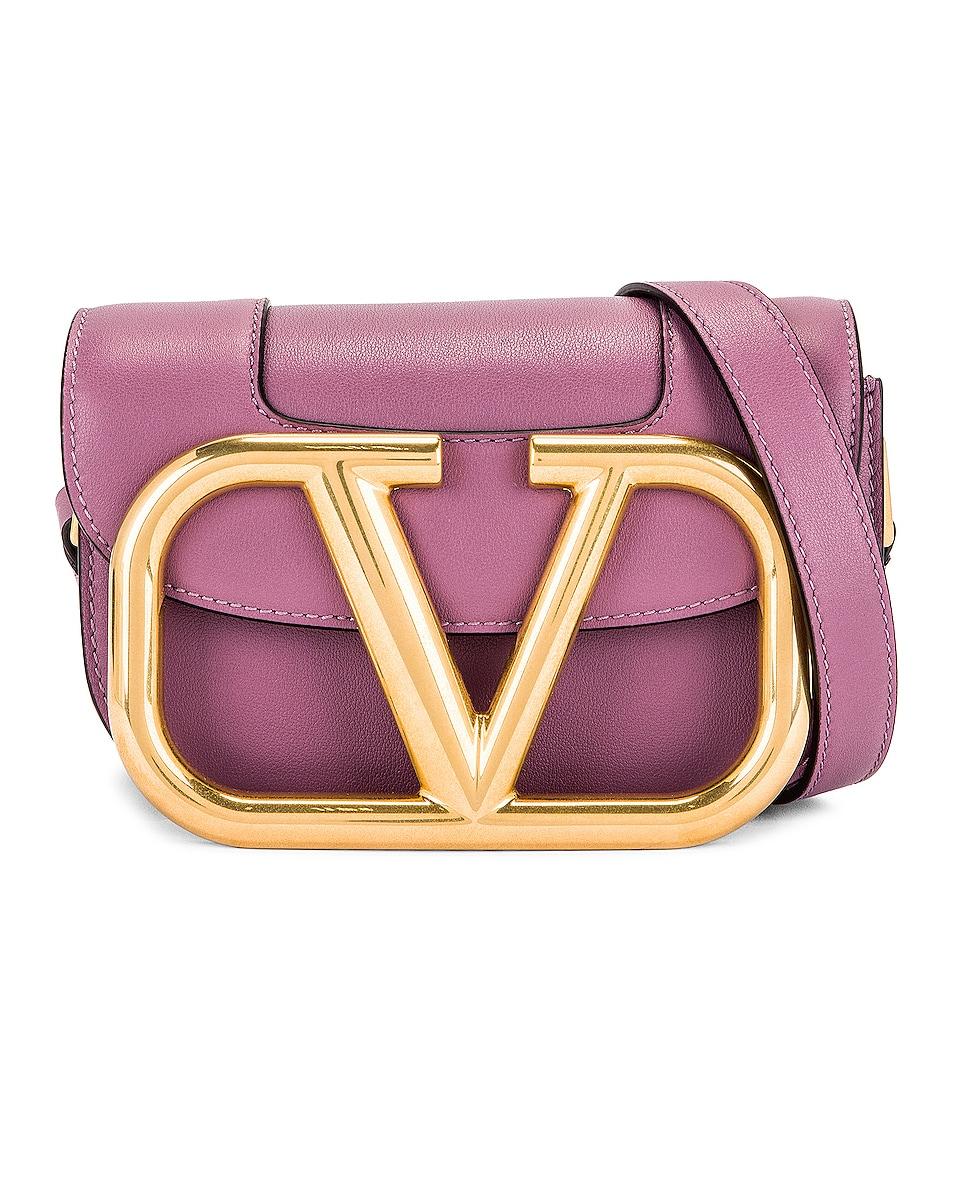 Image 1 of Valentino Garavani Small Supervee Shoulder Bag in Malva