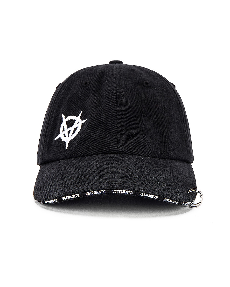 Image 1 of VETEMENTS Anarchy Cap in Black