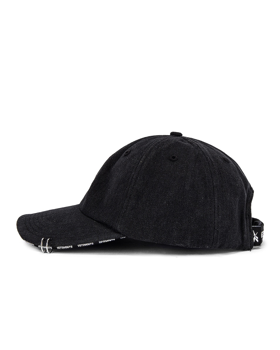 Image 3 of VETEMENTS Anarchy Cap in Black