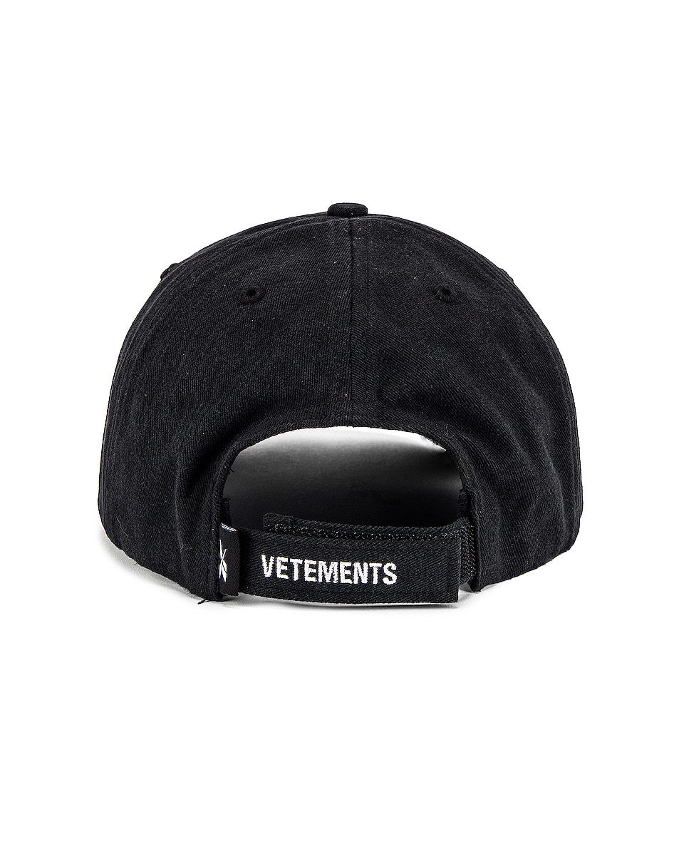 Image 4 of VETEMENTS Anarchy Cap in Black