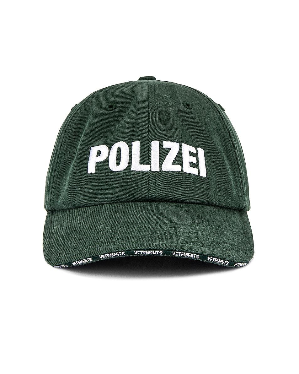 Image 1 of VETEMENTS Polizei Cap in Green