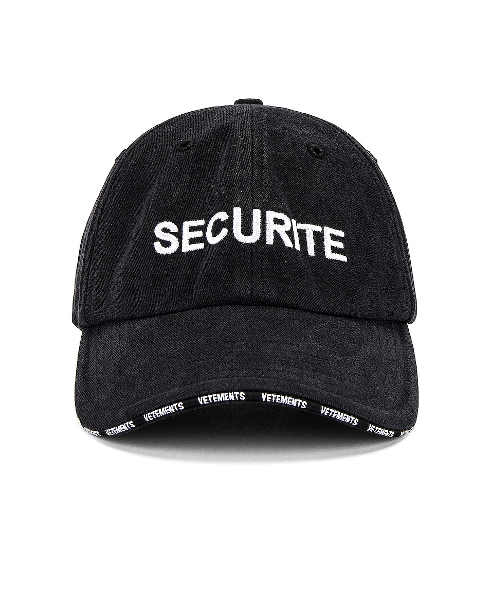Image 1 of VETEMENTS Securite Cap in Black