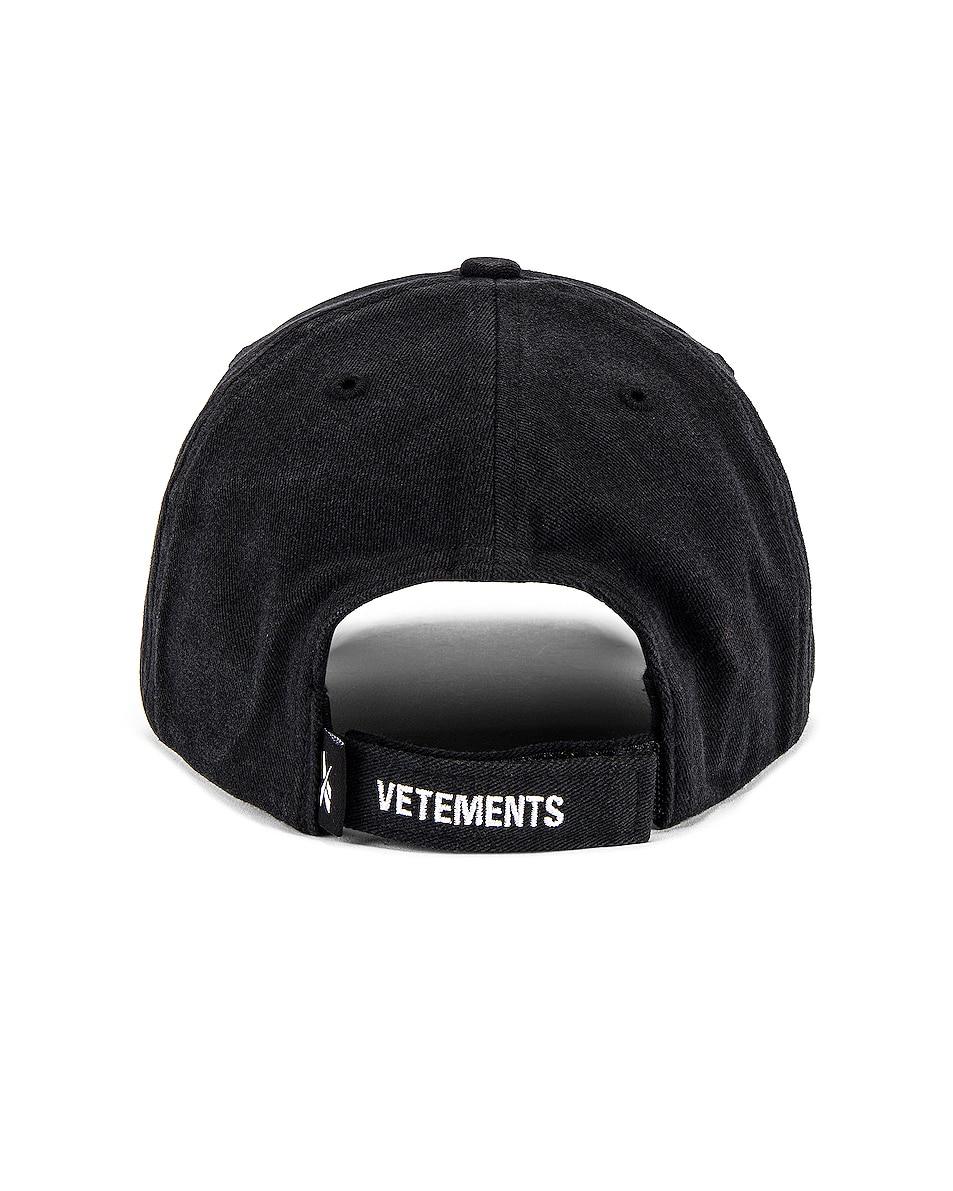 Image 4 of VETEMENTS Securite Cap in Black