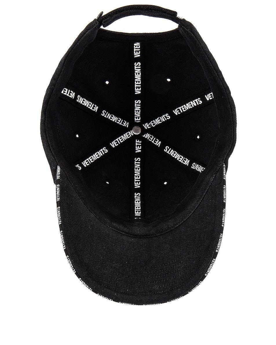Image 5 of VETEMENTS Securite Cap in Black