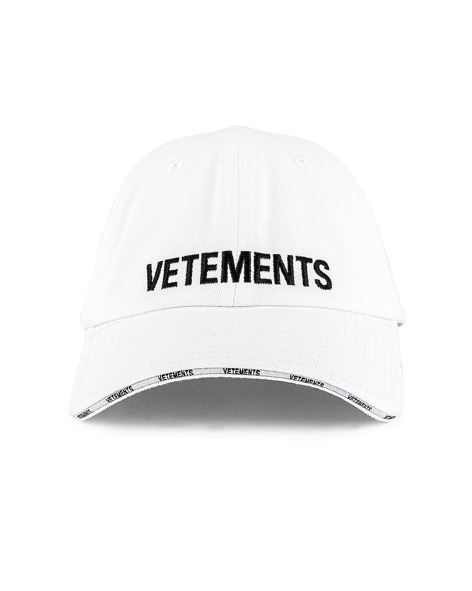 Image 1 of VETEMENTS Logo Cap in White