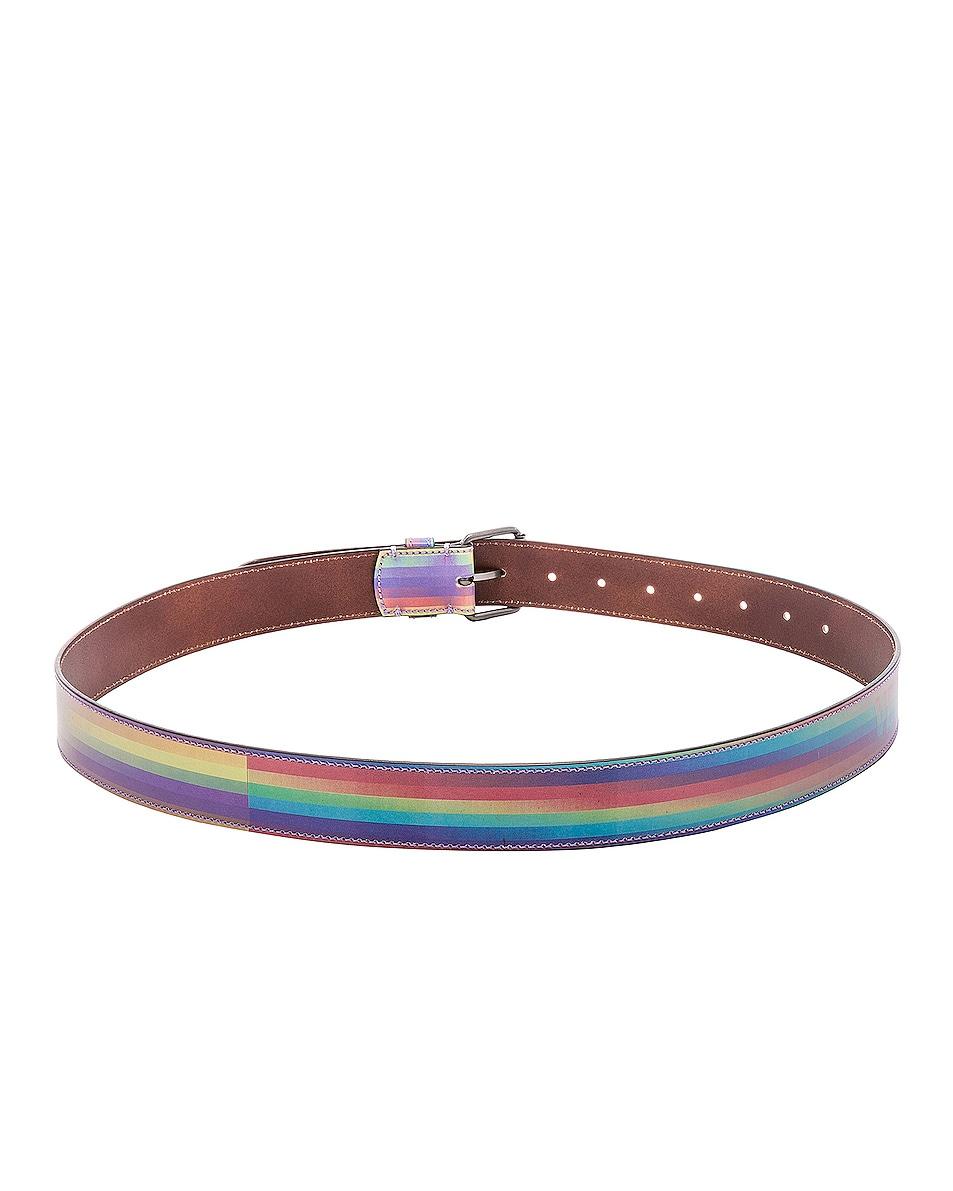 Image 3 of VETEMENTS Hologram Belt in Rainbow
