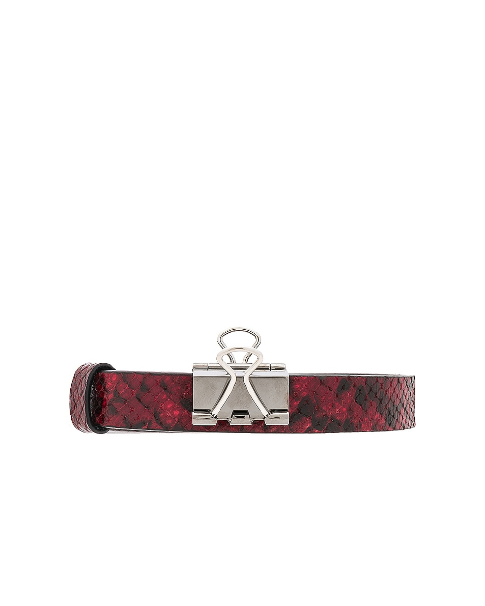 Image 1 of VETEMENTS Thin Python Paper Clip Belt in Red