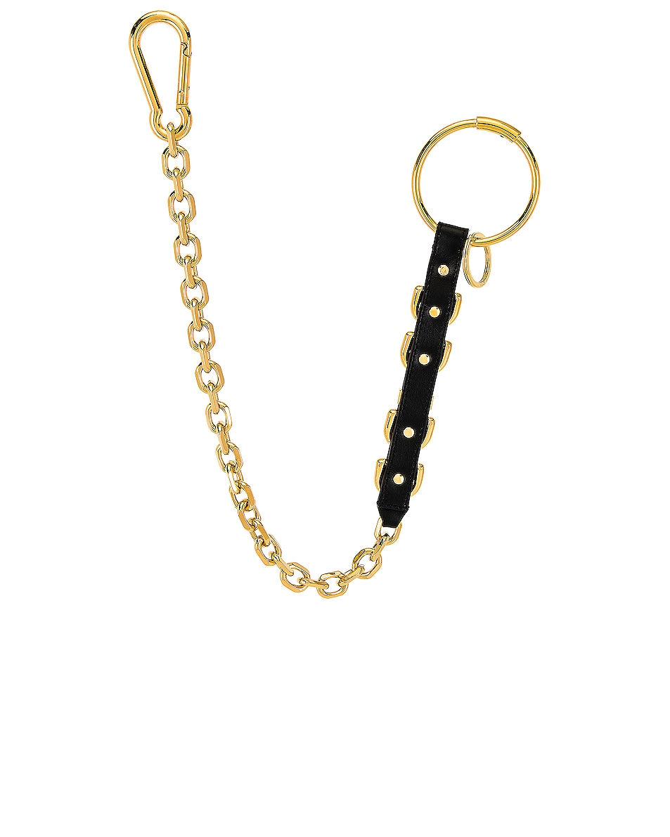 Image 2 of VERSACE Keychain in Black & Gold