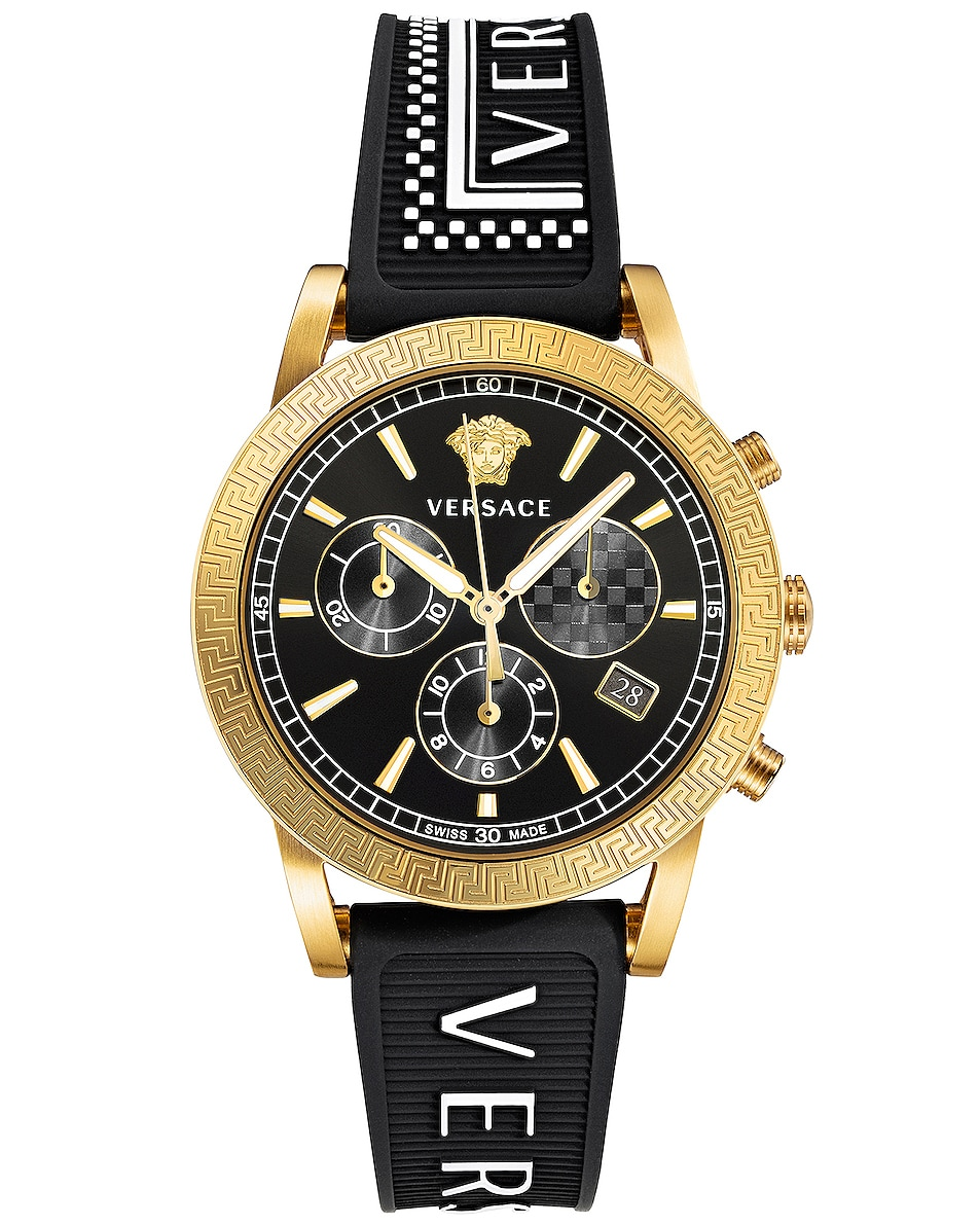 Image 1 of VERSACE Sport Tech 40mm in IP Yellow Gold & Black Dial