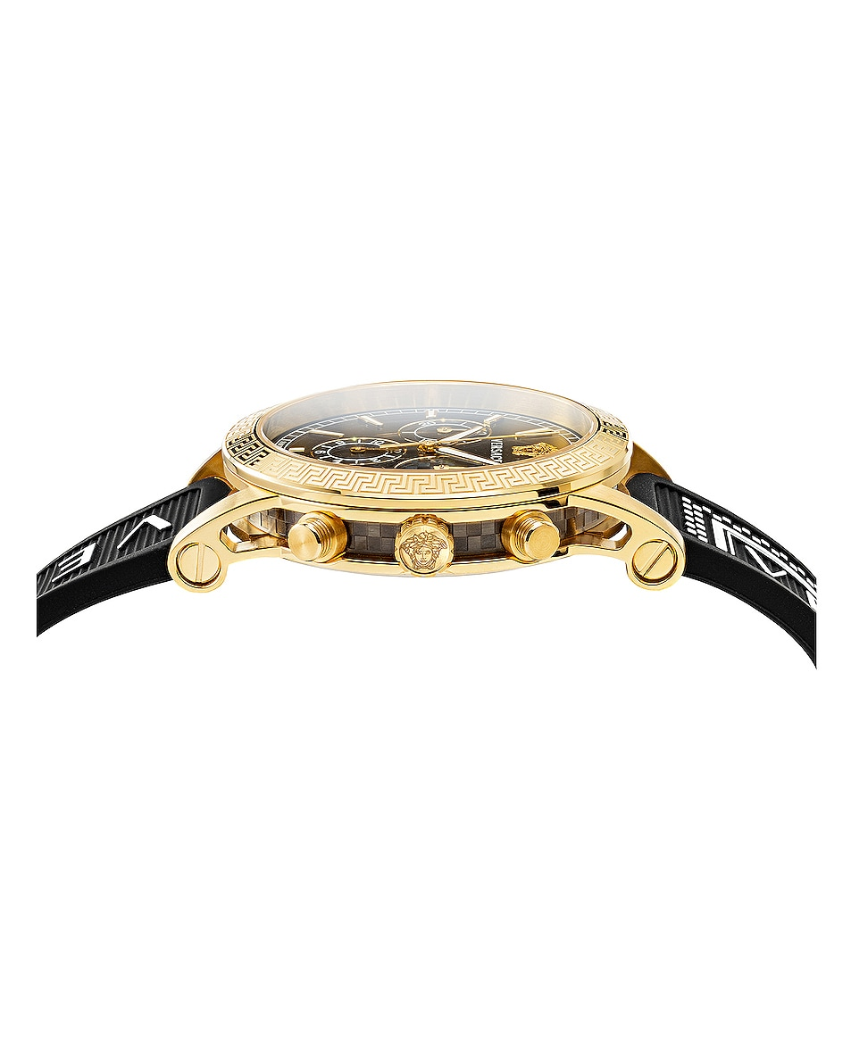 Image 2 of VERSACE Sport Tech 40mm in IP Yellow Gold & Black Dial